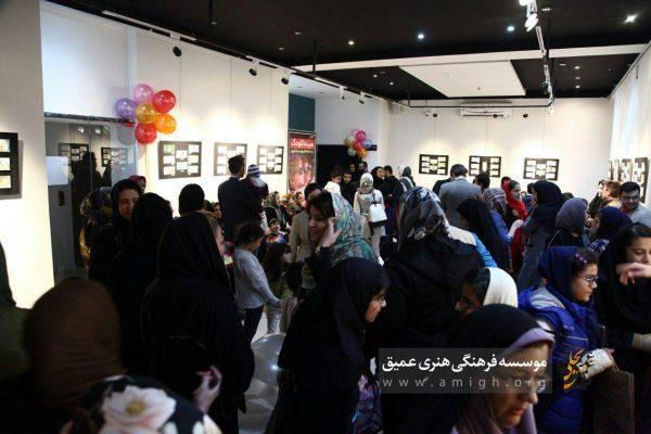 نمایشگاه آثار برگزیده رنگ آمیزی - نگارخانه موسسه فرهنگی هنری عمیق - بجنورد